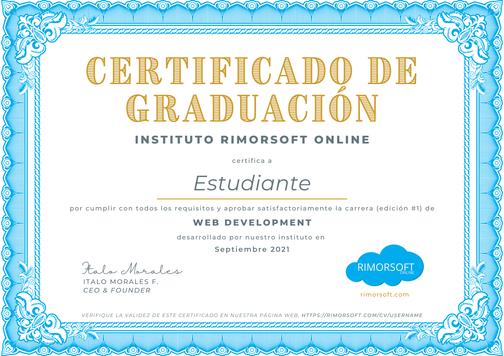 Certificado de Web Development